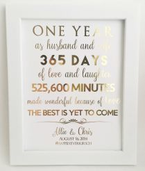 Lovely One Year Wedding Anniversary Gifts For Him B89 In Pictures