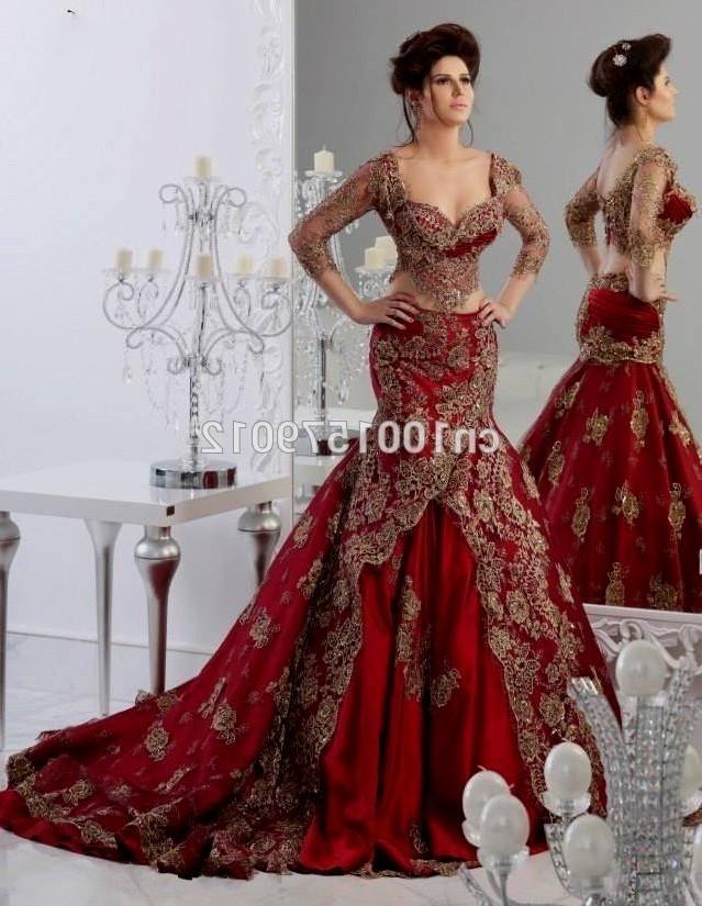 63a91f1d6891 Red Lace Wedding Dress