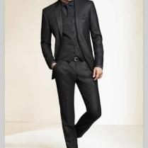 Wholesale 2017 Black Slim Fit Custom Made Mens Tuxedo Wedding