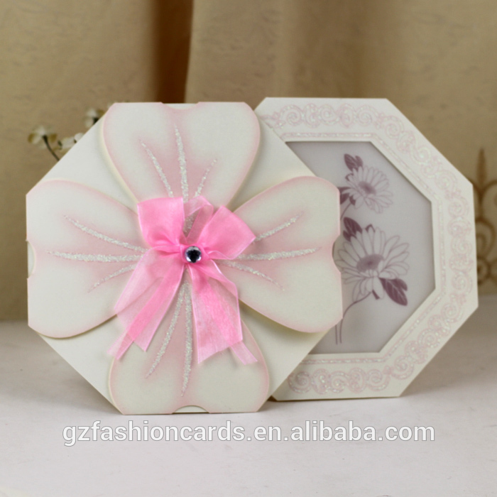 Flower Shaped Wedding Invitations