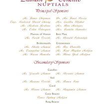 Wedding Invitation Format Entourage Wedding Invitation List