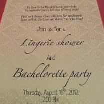 Photo Lingerie Shower Invitation Sizing Lingerie Image