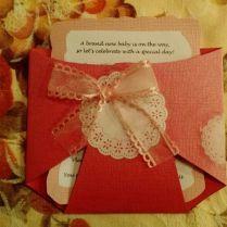 Cute Girly Diaper Invitations