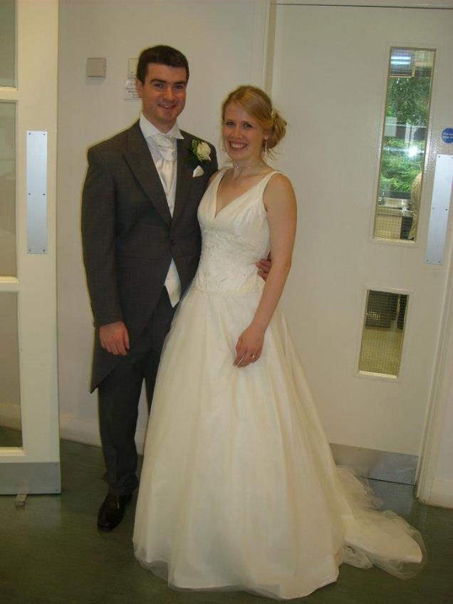Ivory Dress Brides What Did The Groom Wear