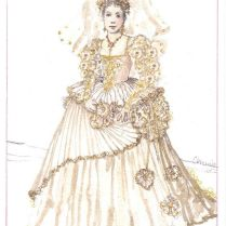 The Taming Of The Shrew (bianca, Wedding) Costume Design By