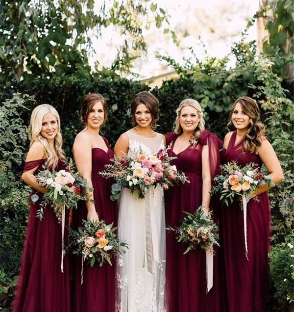 20 Breathtaking Burgundy Bridesmaid Dresses For Fall