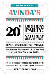 Birthday Invitation Email Template
