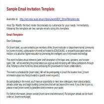 Free Email Invitations Business Invitation Email Template