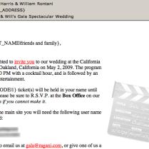 Wedding Invitaion Email