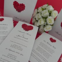 Red Rose Wedding Invitations Red Rose Wedding Invitations And