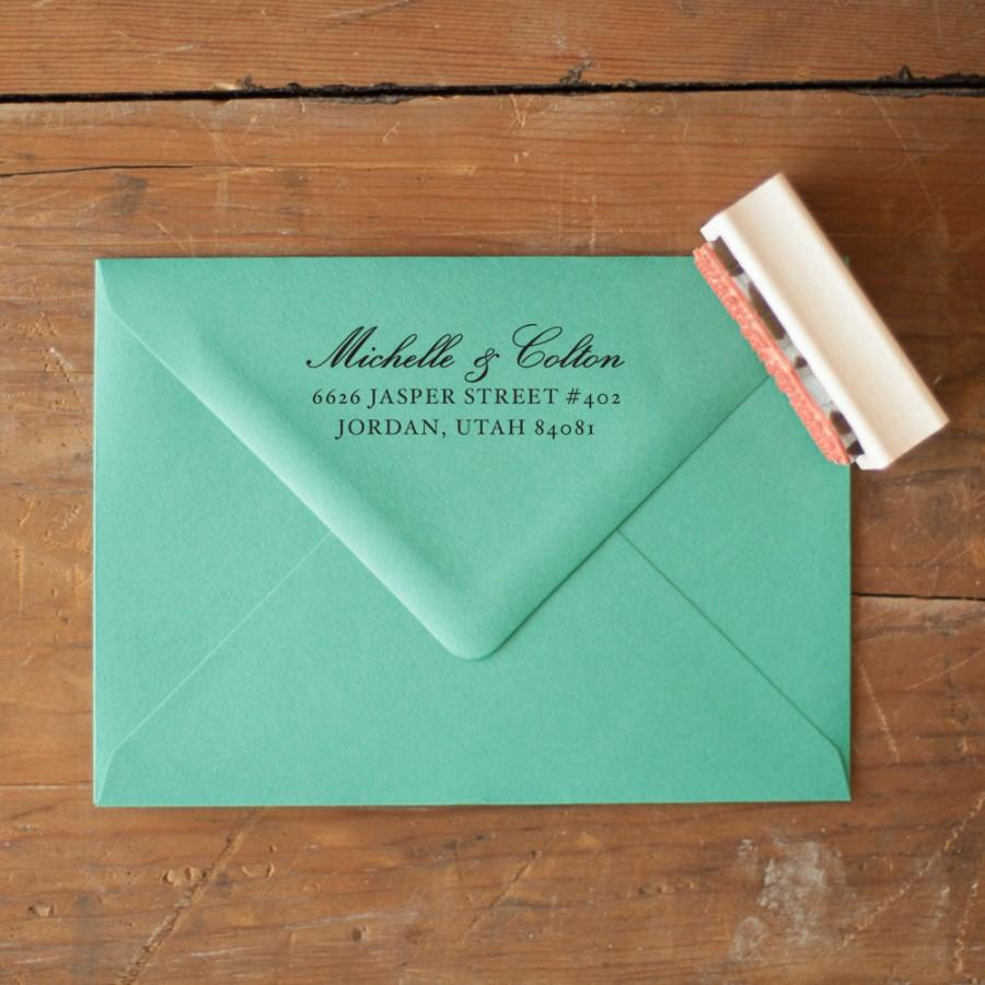 Where To Put Return Address Labels On Wedding Invitations
