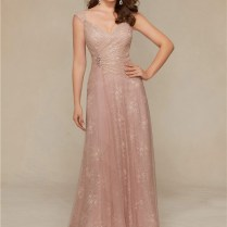 Sheath V Neck Cap Sleeve Long Blush Pink Lace Mother Of The Bride