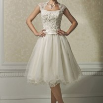 Short Ivory Wedding Dresses