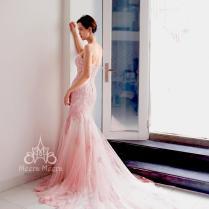 Sweet Pink Mermaid Wedding Dress From Meera Meera Sweet Pink