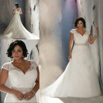 Vintage Lace Cap Sleeves Super Plus Size Mermaid Wedding Dress