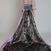 Discount White And Mossy Oak New Breakup Camo Wedding Dress Halter