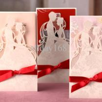 Bride And Groom Hollow Out Invitation Card Wedding Invitations