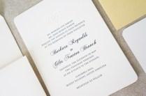 Monogram Wedding Invitation Navy Dodeline Charleston Sc