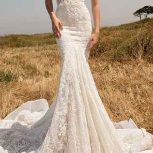 Picture Of Strapless Sweetheart Lace Mermaid Wedding Dress By Glia