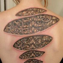 Amazing Awesome Cool Latest Stylish 3d Tattoos Design Ideas Pics