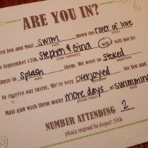 Our Diy Mad Libs Style Wedding Rsvp Invitiation Card