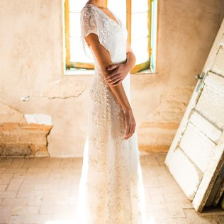 Simple Wedding Dress, Backyard Wedding Dress, Rustic Wedding Dress