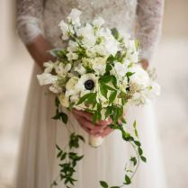 White Floral And Greenery Bridal Bouquet By Lee James Floral