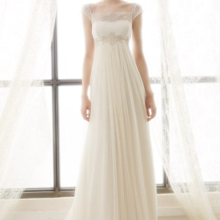 A Line Empire Waist Wedding Dress