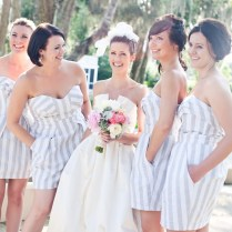 Picture Of Awesome Striped Bridesmaids Dresses
