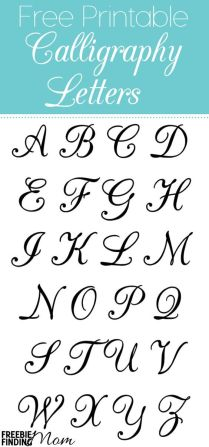 Free Printable Calligraphy Letters