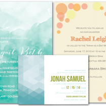 Email Online Bar Bat Mitzvah Invitations That Wow!