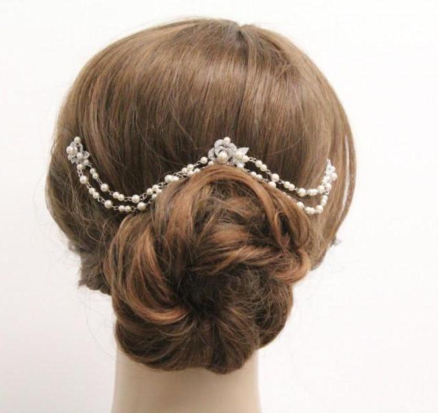 Bridal Hair Chain Pearl Wedding Hair Accessories Bridal Hair