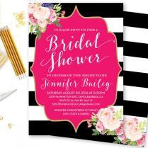 Bridal Shower Invitation, Baby Shower Invitation, Bridesmaid