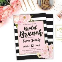 Bridal Shower Invitation, Bridal Brunch Invitation, Bridal Shower