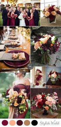 Wedding Trends 10 Fantastic Burgundy Color Combos For 2017