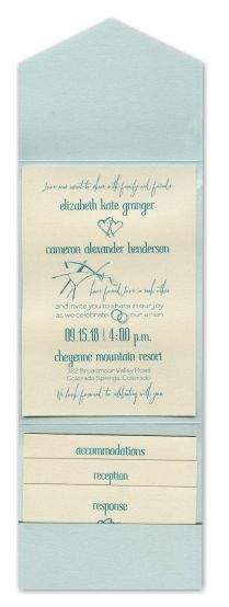 Effervescent Love Pocket Wedding Invitation
