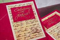 Selfmade Wedding Invitation Cards — Stock Photo © Romrodinka 13153637