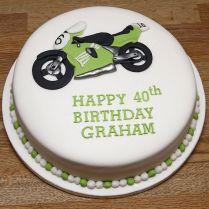 Motorcycle Design Novelty Sponge Cake