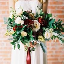 Dusty Blue And Cranberry Wedding Inspiration ⋆ Ruffled