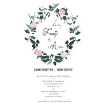 Fanny And Adam's Wedding Invitation In English By Edelweiss