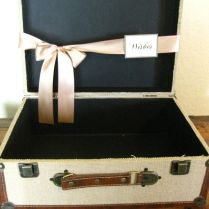 Wedding Card Box Suitcase Card Holder Vintage Style Rustic