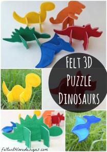 Felt 3d Puzzle Dinosaurs Pattern Release