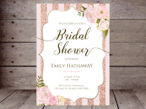 Editable Bridal Shower Invitations – Printabell • Create