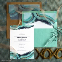 Download And Print A Watercolor Wedding Invitation Suite