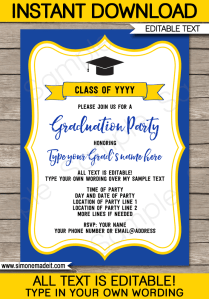 Graduation Party Invitations Template