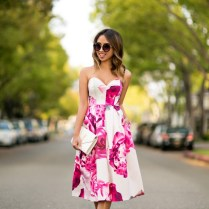 Lace And Locks Petite Fashion Blogger Floral Wedding Guest Dress