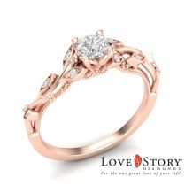 Interior Vintage Rose Gold Engagement Rings Love Story Vintage