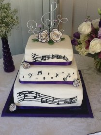 Music Theme Wedding Cakes