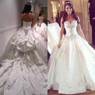 Noble Custom Made Ball Gown Wedding Dress Sweetheart Sleeveless