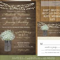 Rustic Wedding Invitations In Gold With Tin Cans 2488868